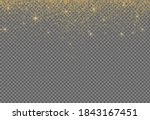 gold glitter particles isolate... | Shutterstock .eps vector #1843167451