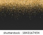 gold glitter particles isolate...   Shutterstock .eps vector #1843167454