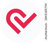 Heart Logo  Check Mark Flat...