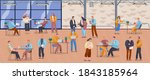 office staff  work and...   Shutterstock .eps vector #1843185964