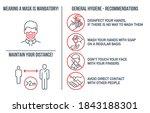 set of coronavirus covid19... | Shutterstock .eps vector #1843188301