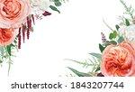 vector floral watercolor... | Shutterstock .eps vector #1843207744