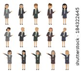 business people   isolated on... | Shutterstock .eps vector #184322645