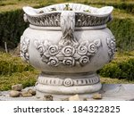 big ceramic pot for flowers in... | Shutterstock . vector #184322825