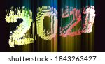 2021. 3d illustration polygonal ... | Shutterstock . vector #1843263427