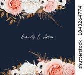stylish wedding invite  save... | Shutterstock .eps vector #1843264774
