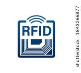 rfid radio frequency... | Shutterstock .eps vector #1843266877