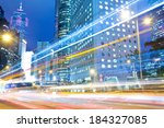 traffic through downtown... | Shutterstock . vector #184327085