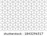 abstract hexagon geometric... | Shutterstock .eps vector #1843296517
