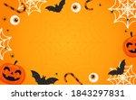 happy halloween background... | Shutterstock .eps vector #1843297831