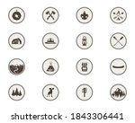 boy scouts icons  patches. the... | Shutterstock . vector #1843306441