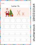alphabet tracing worksheet.... | Shutterstock .eps vector #1843310164