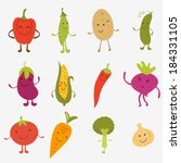 happy farm vegetables... | Shutterstock .eps vector #184331105
