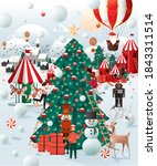 christmas winter wonderland... | Shutterstock .eps vector #1843311514
