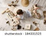boy in the image traveler...   Shutterstock . vector #184331525