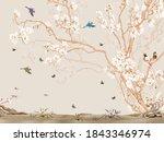 Awosome Flower Tree With Birds...