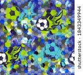 abstract seamless football... | Shutterstock .eps vector #1843349944