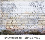 Old Brick Wall Painted In...