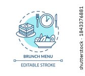 brunch menu concept icon. after ... | Shutterstock .eps vector #1843376881