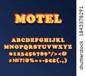 motel vintage 3d vector... | Shutterstock .eps vector #1843378291