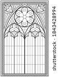 vector graphics. vintage gothic ... | Shutterstock .eps vector #1843428994
