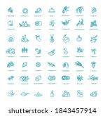 vector set of natural... | Shutterstock .eps vector #1843457914