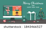 merry christmas and happy new... | Shutterstock .eps vector #1843466527
