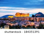 Acropolis In Athens  Greece In...