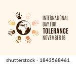 international day for tolerance ... | Shutterstock .eps vector #1843568461