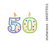 fifty years anniversary  50... | Shutterstock .eps vector #1843575511