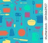 kitchen silhouette set  vector...   Shutterstock .eps vector #1843663927