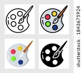 color plate icon vector design... | Shutterstock .eps vector #1843675924