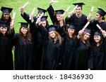 group graduation of students... | Shutterstock . vector #18436930