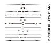 set of various simple black... | Shutterstock .eps vector #1843693207