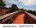Wooden bridge at hin chang si...