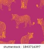 beautiful leopard illustration...   Shutterstock .eps vector #1843716397