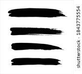 black ink paint stroke...   Shutterstock .eps vector #1843775554