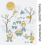 vector illustration of children ... | Shutterstock .eps vector #1843790491