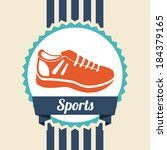 fitness and sports design over... | Shutterstock .eps vector #184379165