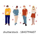 a group of people in medical... | Shutterstock .eps vector #1843794607