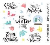set of vector winter... | Shutterstock .eps vector #1843801444