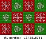 christmas knitted seamless... | Shutterstock .eps vector #1843818151