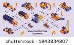 isometric road construction... | Shutterstock .eps vector #1843834807