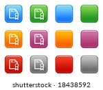 color buttons with mortgage icon | Shutterstock .eps vector #18438592