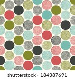 seamless dots circles pattern   Shutterstock .eps vector #184387691