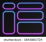 neon gradient frames set ... | Shutterstock .eps vector #1843881724