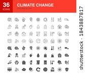 climate change line web glyph... | Shutterstock .eps vector #1843887817