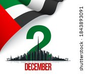49 uae national day banner with ...   Shutterstock .eps vector #1843893091