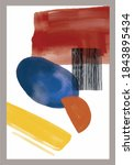 vector abstraction. painting.... | Shutterstock .eps vector #1843895434