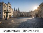 Prague Castle Located In The...